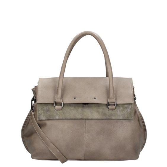 2650eff8dc8 (147) Damestas City Shopper van Emily & Noah in de kleur taupe. Gemaakt van  imitatieleer. prachtige kleurencombinatie met een tijdloos design maken  deze tas ...