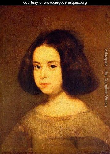 Portrait Of A Little Girl - Diego Rodriguez de Silva y Velazquez - www.diegovelazquez.org