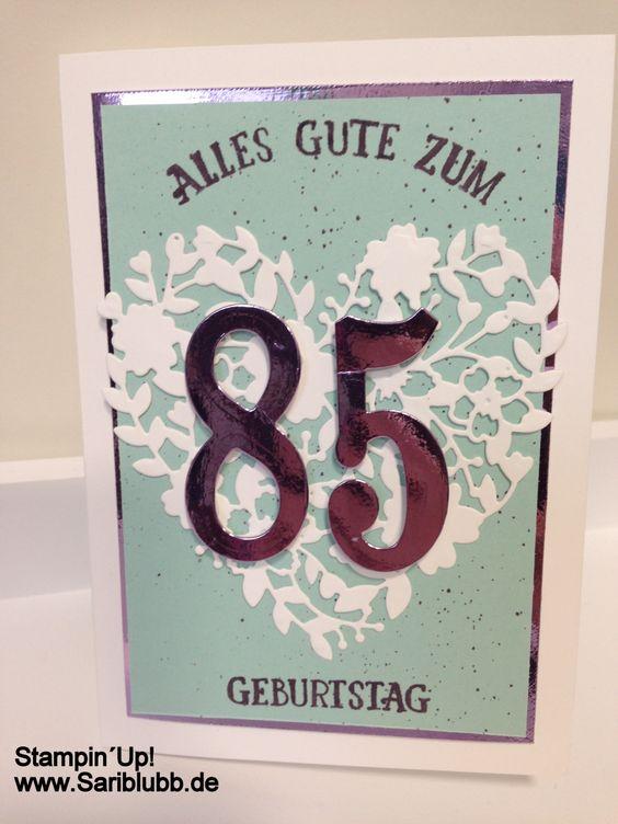Eine Karte für meine liebe Oma zum 85. Geburtstag! :)