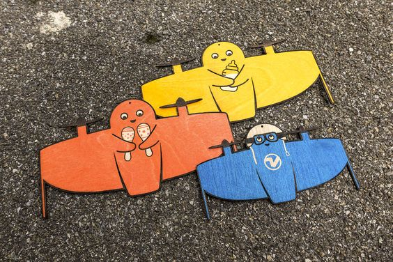 Lasercut plane mascot design