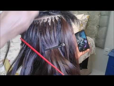 Acabamento Para Mega Hair No Italiano Amarrado Meia Cabeca Alta