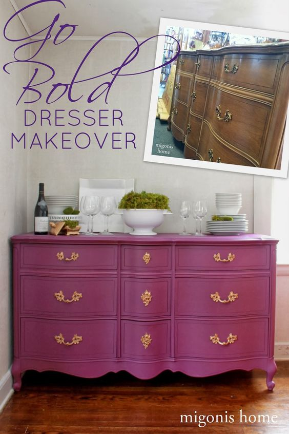 Dresser makeover done in Perfection by #countrychicpaint By Migonis Home: