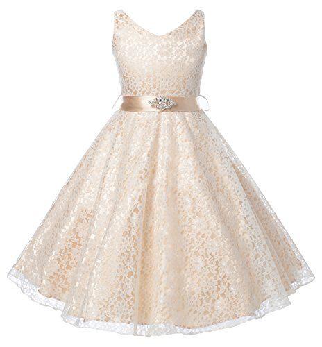 Thstylee Lace Tulle Flower Girl Dress Little Girl Toddler Kids ...