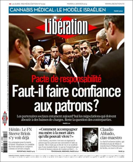 Libération - Mardi 21 Janvier 2014 - N° 10166