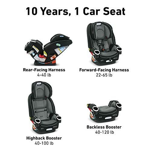 Graco 4ever Dlx 4 In 1 Car Seat Infant To Toddler Car Seat With 10 Years Of Use Fairmont Toddler Car Seat Baby Car Seats Toddler Car