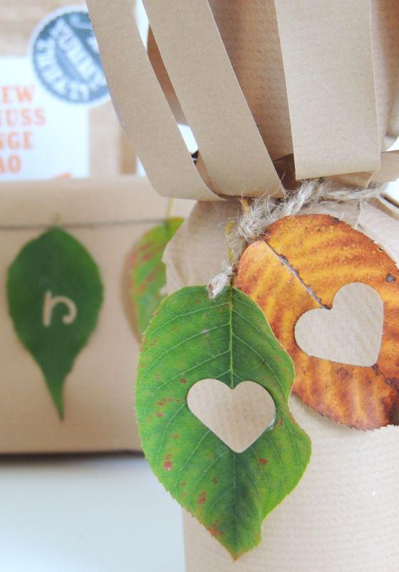 Laublätter mit Herz