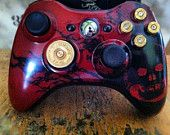Xbox 9mm Shotgun Shell bullet button Controller Video Game gun brass shells handmade handcrafted video games call of duty gears of war. $67.89, via Etsy.