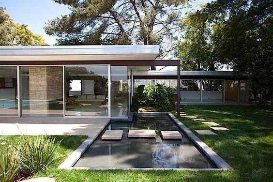 Richard Neutra house; reflecting pool; Los Angeles; | Maison, je ...