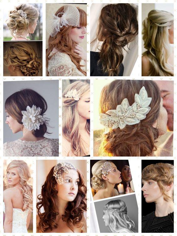 Peinados de novia. Hairstyle wedding.