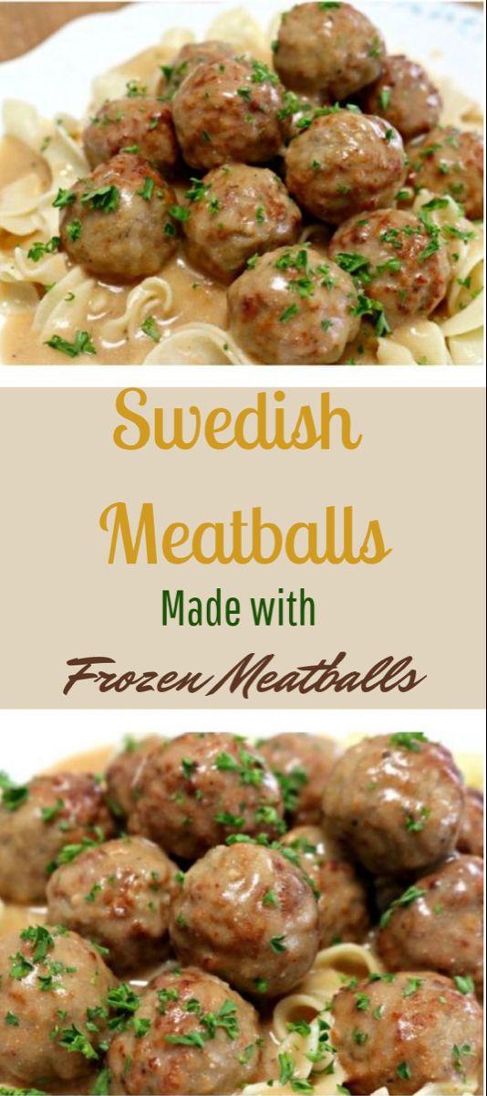 Delicious Swedish Meatballs Using Frozen Meatballs #meatballs #dinner