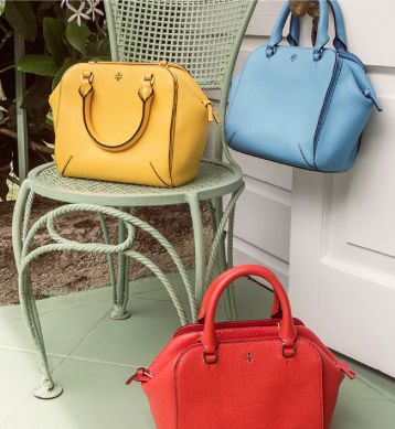 colorful pebbled leather spring satchels