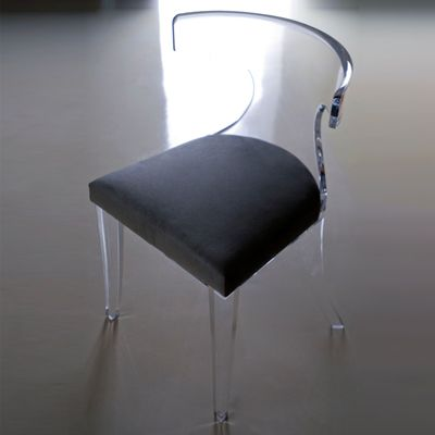 Furniture Lucite chair with upholstered seat Verona