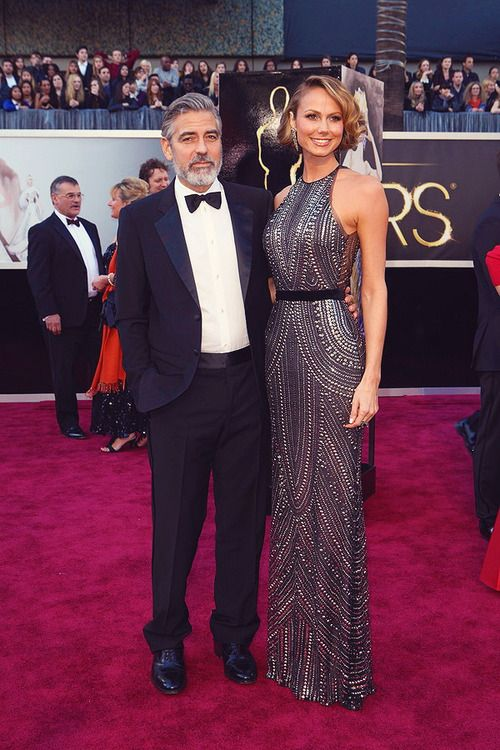 George Clooney and Stacy Keibler @ Oscars 2013