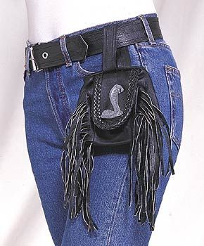 Pouch With Braid and Fringe - Cobra