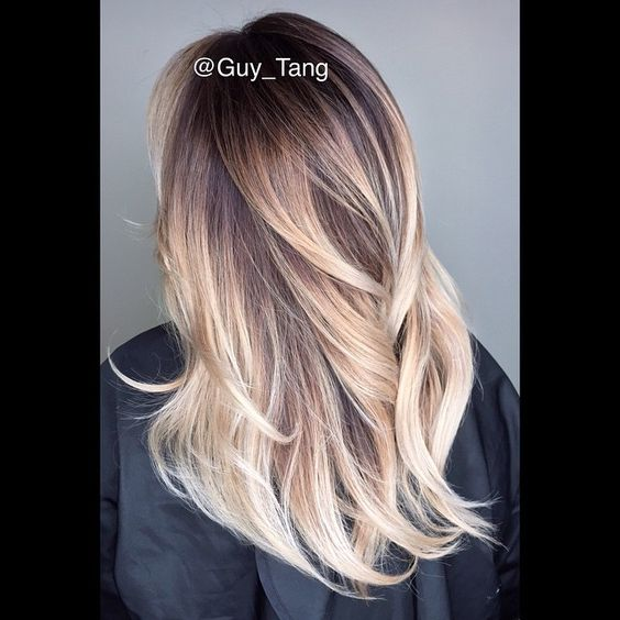 High Contrast Balayage Ombre by Guy Tang: