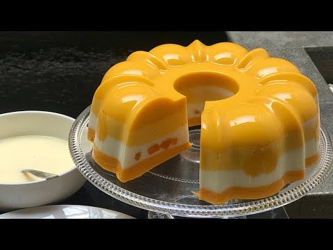 Mango Foam Pudding Is Tasty And Soft Youtube Puding Mangga Resep Makanan Penutup Resep