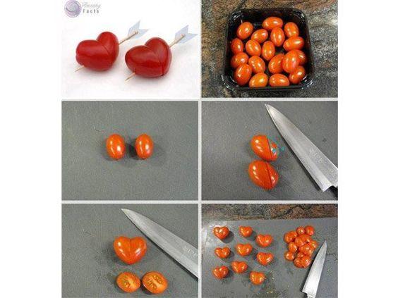 Herzen aus Tomaten