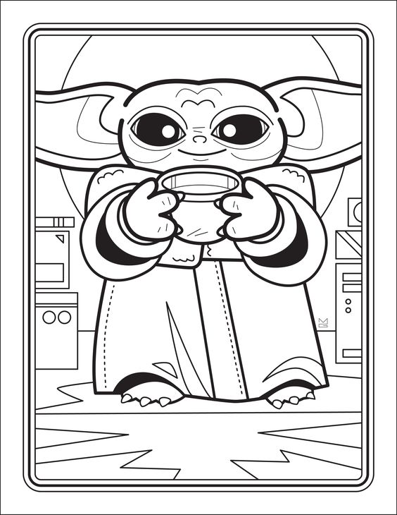 Free Downloadable Baby Yoda Coloring Book In 2020 Free Coloring Pages Coloring Books Star Wars Colors