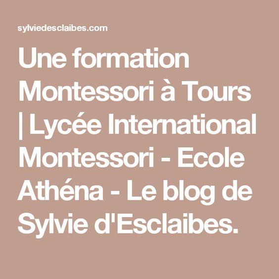 Une formation Montessori à Tours | Lycée International Montessori - Ecole Athéna - Le blog de Sylvie d'Esclaibes.