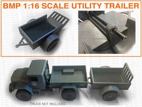 Bmp 1 16 Scale Utility Trailer For Tamiya Unimog Wpl B1 4wd Other Rc Trucks Utility Trailer Rc Trucks Unimog