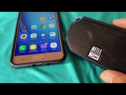 How To Pair Altec Lansing H20 To Samsung Galaxy J Phone Youtube