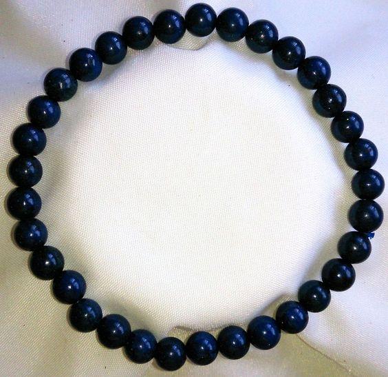 Lapislazuli Heilstein Perlen Armband