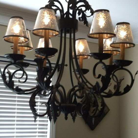 mercury glass chandelier shades home decor. Black Bedroom Furniture Sets. Home Design Ideas