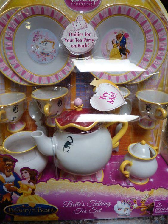 Vintage Disney Beauty And The Beast Talking Tea Set Mrs