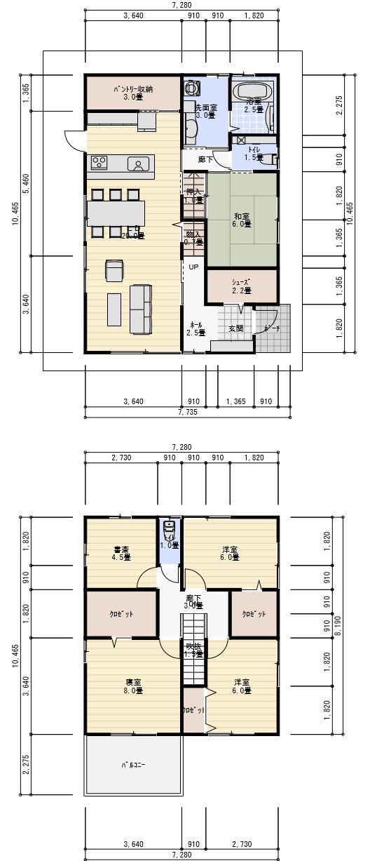 家 間取り 40坪書斎ののある家 2階建て 間取り 40坪 間取り 書斎