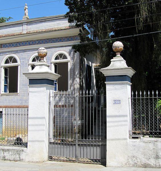 Azulejos antigos no Rio de Janeiro: Santa Teresa VI - rua Monte Alegre - Solar da Chácara do Viegas