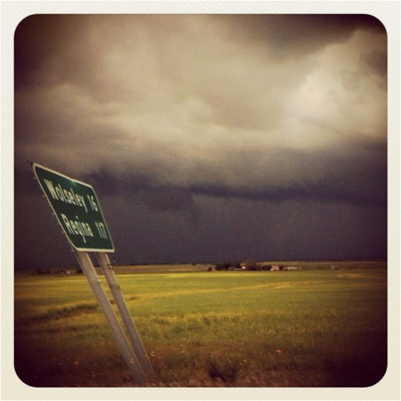 Storm Chasing west of Portage La Prairie, Manitoba. Photo by Michael Van der Tol