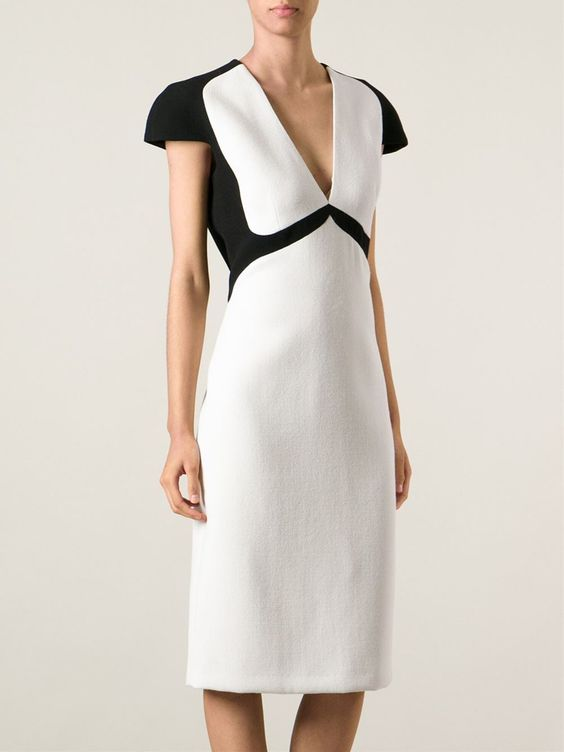 Bottega Veneta Colour Block Evening Dress - Luisa World - Farfetch.com