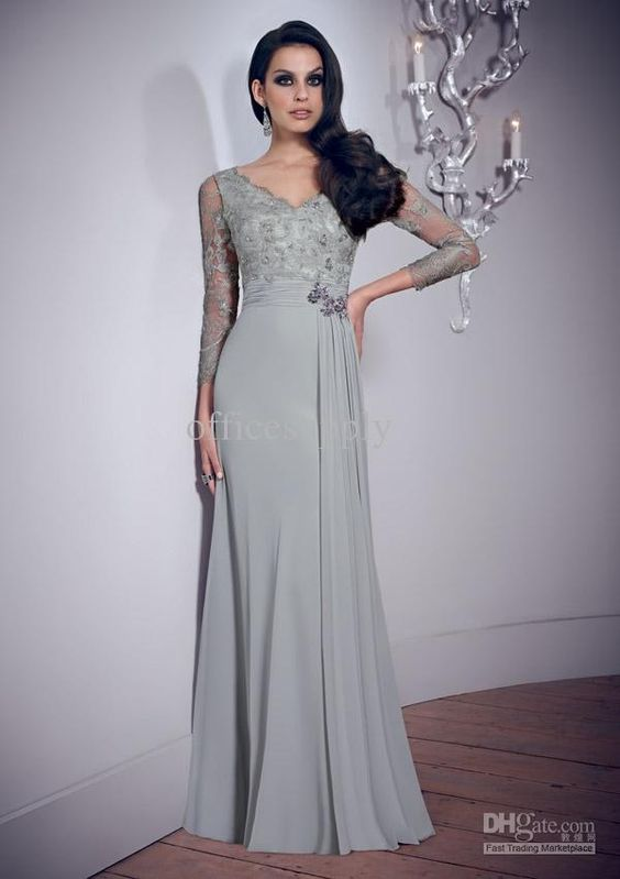 Wholesale Mother Bride - Buy 2013 Ceremony Dove Grey Chiffon ...