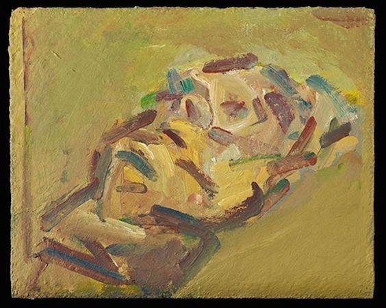 Reclining head of Julia, 2015, Frank Auerbach