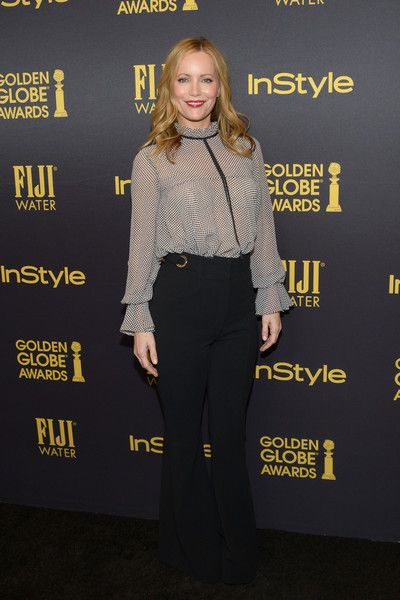 Actress Leslie Mann arrives at the Hollywood Foreign Press Association and InStyle celebrate the 2017 Golden Globe Award Season at Catch LA on November 10, 2016 in West Hollywood, California.