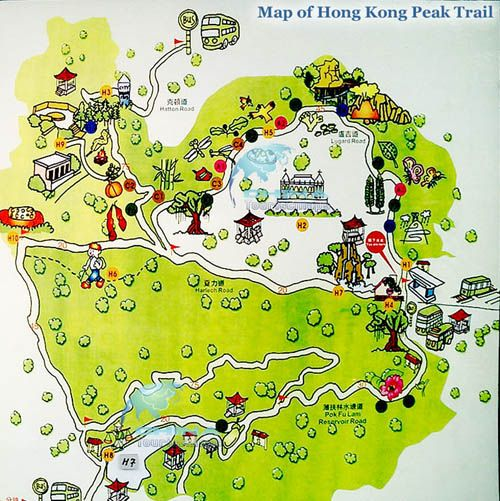 Map of Victoria Peak Trail This is a kidfriendly or stroller – Kids Travel Map