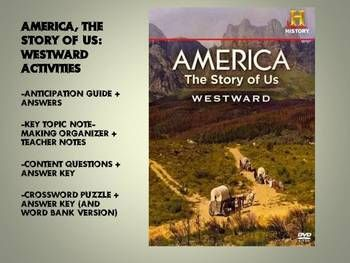 america the story of us westward video worksheet package the story activities and videos. Black Bedroom Furniture Sets. Home Design Ideas