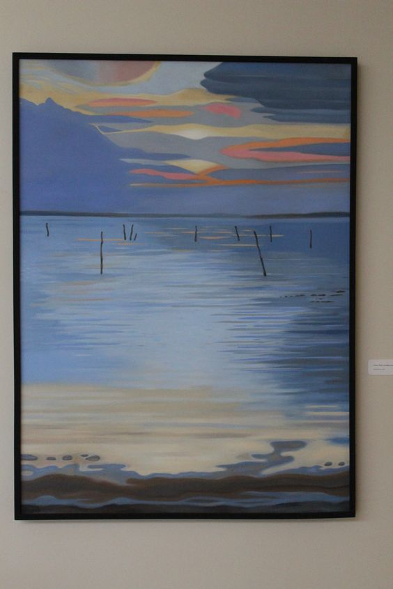 """Scapes"" exhibit by Carol Plumb @ MPL Lobby Art Gallery. Spring 2015."