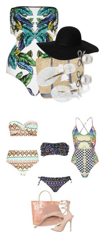"""Swimsuits"" by beautifully-ambitious ❤ liked on Polyvore featuring River Island, Vanessa Bruno Athé, Monki, Boohoo, Wildfox, Ashley Stewart and Accessorize"