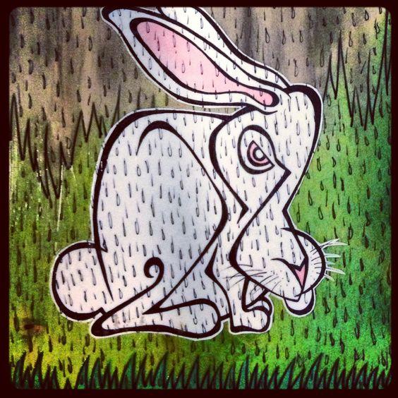 Rabbit art by Steven Dennis