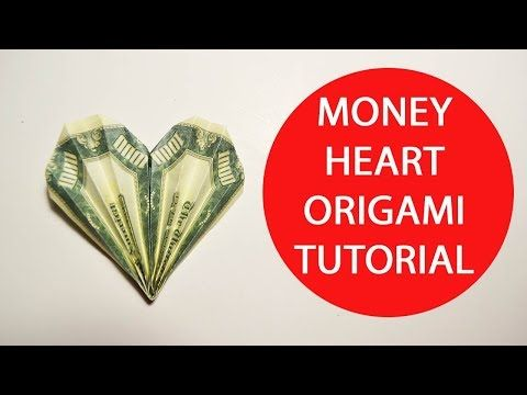 How to fold an origami money heart - tutorial - great gift idea ...   360x480