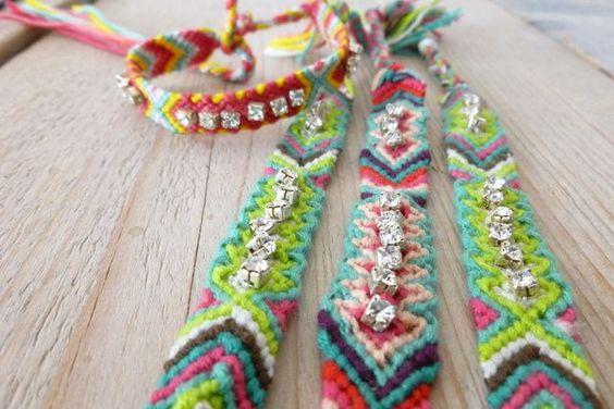 Friendship bracelet met strass #ohsohip