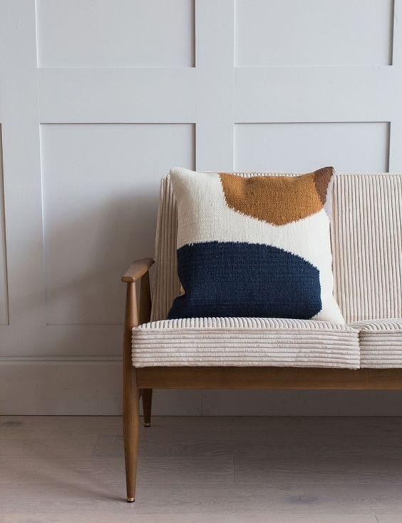 Ferm Living Kelim Cushion | Rose & Grey