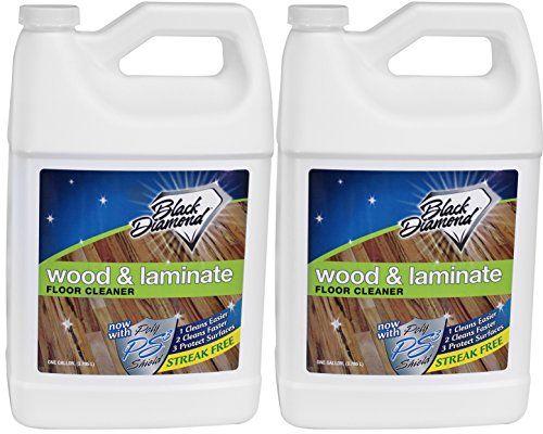 Black Diamond Wood & Laminate Floor Cleaner 2-Gallons: For Hardwood, Real, - Black Diamond Wood & Laminate Floor Cleaner 2-Gallons: For