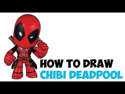 how to draw deadpool cute chibi kawaii cartoon easy step by step drawing tutorial youtube
