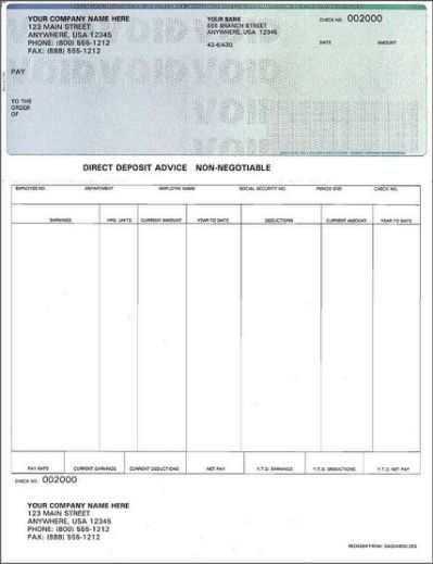 Blank Payroll Check Template - Paying Payroll checks, Bank check