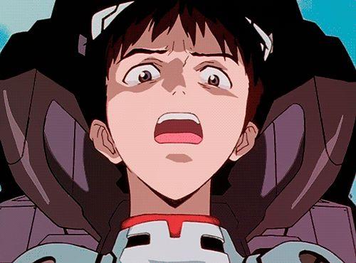 私を月に連れてって Shinji Evanjellion gif