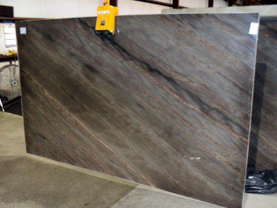 Elegant Brown quartzite slab 34381