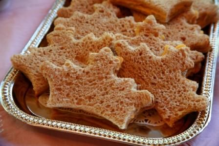 Crown sandwiches for a princess party