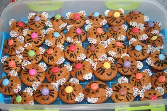 Geburtstag Kinder Mini Muffins Katzen Geburtstagkinder